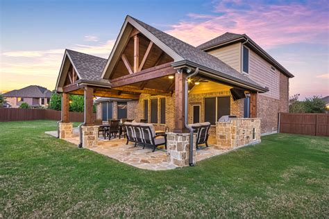 patio cover and kitchen in murphy texas custom patios