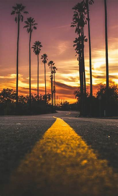 Sunset Road During 4k Wallpapers Iphone Backgrounds