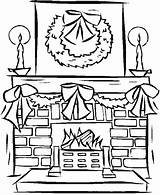 Fireplace Coloring Drawing Window Fireplaces Santa Adult Colouring Sheets Freecoloringpagefun Decorations Tree Templates Holiday Printables Clipartmag Fireplace4 Holidays sketch template