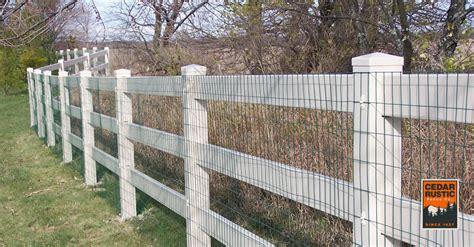 Three Rail Vinyl Fence