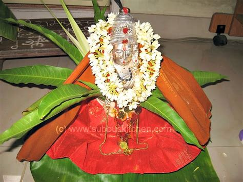 Varalakshmi Vratham Decoration Ideas With Coconut by Varalakshmi Vratham Varalakshmi Pooja Subbus Kitchen