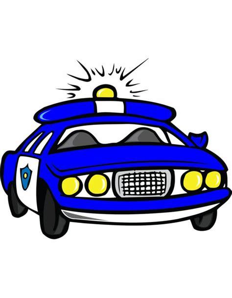 disegno  macchina della polizia  colori  bambini