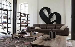 Säulen Fürs Wohnzimmer : wohnzimmer ideen mit brauner couch f r ein angesagtes interieur ~ Indierocktalk.com Haus und Dekorationen