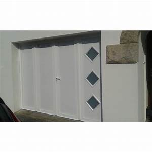 porte de garage battante et portillon integre ouverture a With porte de garage enroulable avec porte de garage battant pvc
