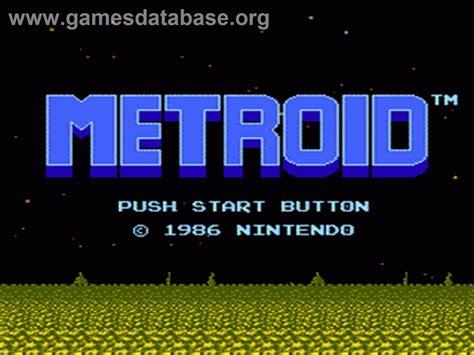 Metroid Nintendo Nes Games Database