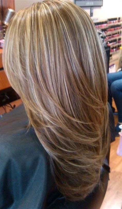 light blonde highlights  medium brown hair hair