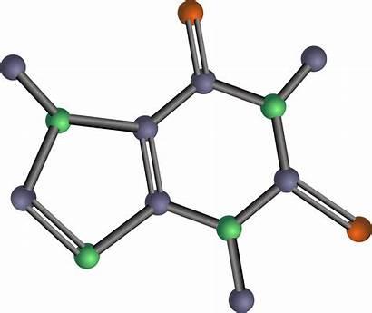 Clipart Chemistry Organic Chemicals Molecule Transparent Caffeine