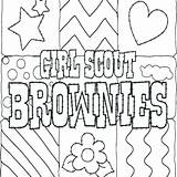 Scout Coloring Brownie Pages Scouts Cookie Cookies Elf Badge Brownies Printable Law Promise Drawing Daisy Sheets Colouring Badges Household Getdrawings sketch template