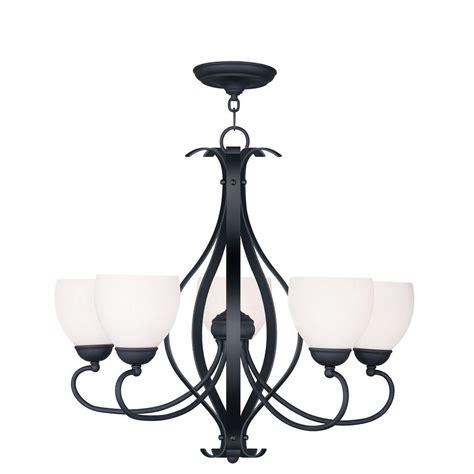 black ceiling chandelier livex lighting providence 5 light black incandescent