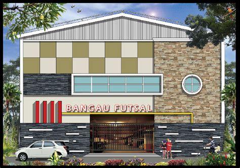 gedung lapangan futsal mewah multidesain arsitek