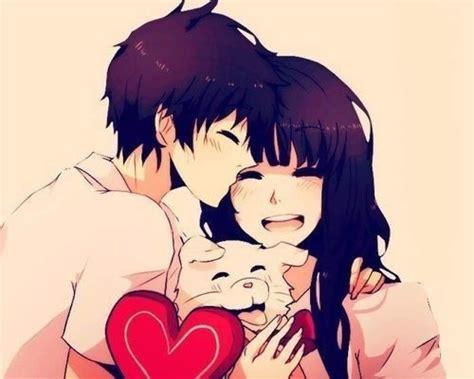 Anime couples who were childhood friends. Cute Anime Couple and Dog   Anime   Pinterest   Anime ...
