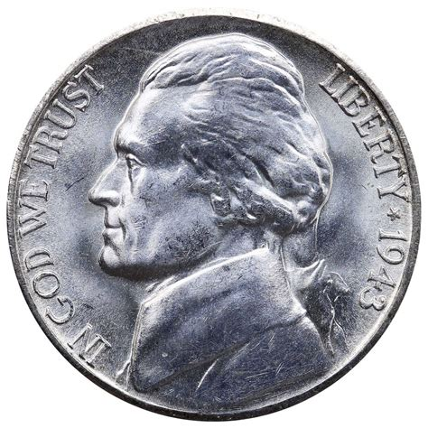 silver nickel 1943 s jefferson 35 silver war nickel bu silver us coin ebay