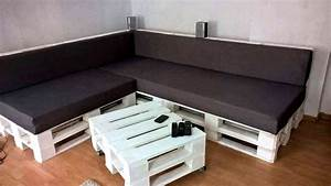 DIY Black & White Pallet Sectional Sofa Set 101 Pallets