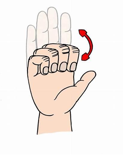 Exercise Finger Clipart Arthritis Hand Fingers Exercises