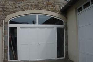 porte de garage pvc battante 4 vantaux avec imposte cintre With porte de garage en pvc