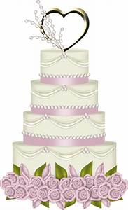 Pink Wedding Cake with Heart PNG Clipart | fiesta ...