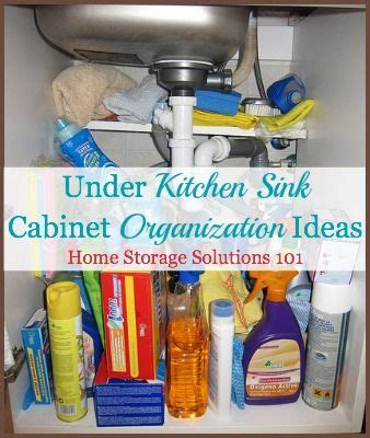 kitchen sink organization ideas 1000 images about cabinet storage and organization 8696