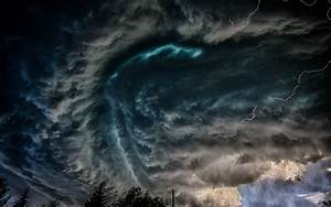 Dark Clouds and Lightning Full HD Wallpaper and Background ...