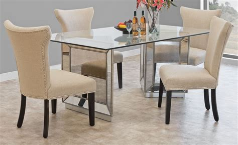 mirrored dining table set mirror dining table set mirrored dining table collection