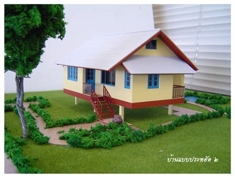 thai house plans compact  bedroom
