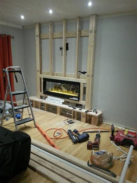 electric fireplace  installed build  fireplace