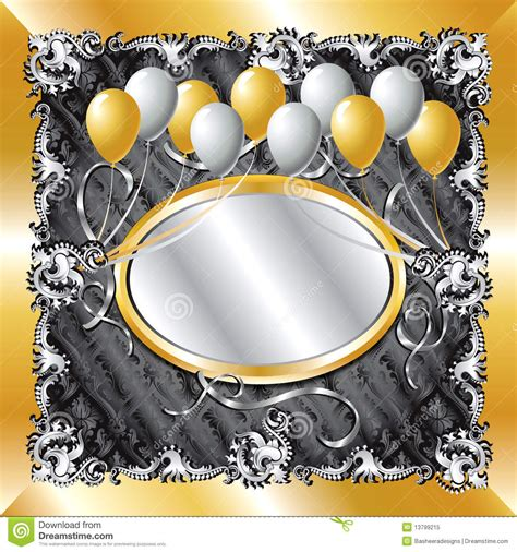 gold silver balloon background royalty  stock photo