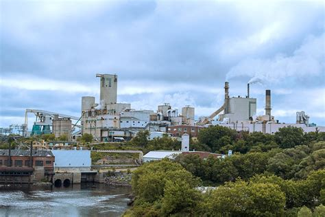 Domtar Paper Mill In Town Of Espanola Ontario Canada ...