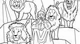 Coloring Pages Daniel Lions Bible Den Sheets sketch template