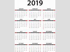 2019 Calendar Transparent PNG Clip Art Gallery