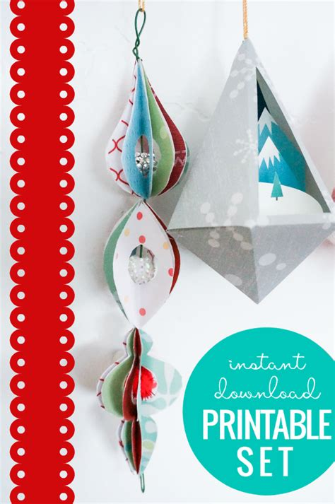 paper ornament templates printable christmas decorations remodelaholic