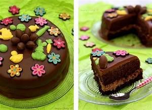 Décorer Un Gateau Au Chocolat : g teau de p ques au chocolat par amandine cooking scrapcooking ~ Melissatoandfro.com Idées de Décoration