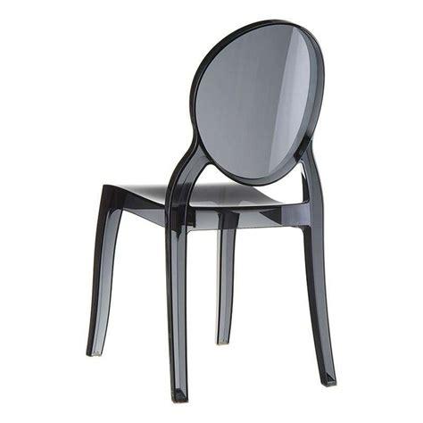 chaise en polycarbonate chaise de style en polycarbonate transparent elizabeth