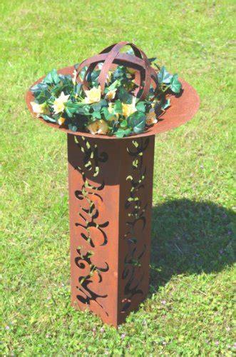 skulpturen für garten kugel rost edelrost aus metall beetdeko deko kugel gartendeko pflanzdeko rost durchmesser ca