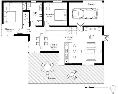 plan maison à étage 3 chambres plan maison à toit plat avec 4 chambres ooreka