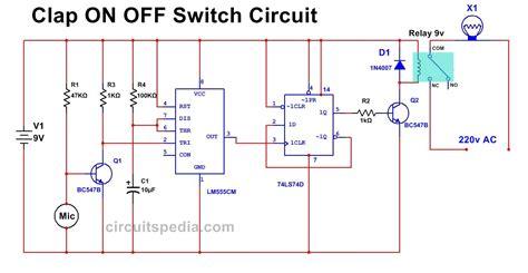 Clap Switch Circuit Diagram Using