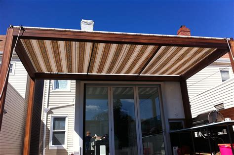 retractable awning wood patio covered extraordinary wall mounted pergola cheerful wooden deck