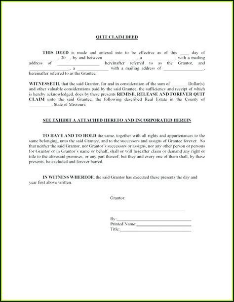 printable quit claim deed form texas form resume