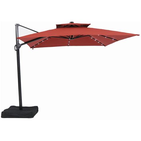 patio furniture on sale garden treasures 10 ft square offset umbrella with led