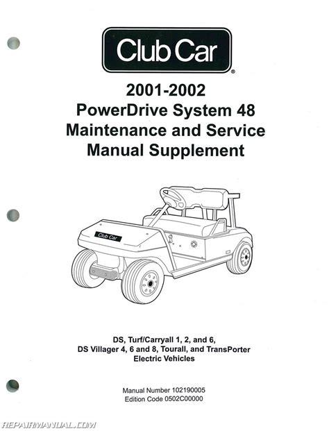 car repair manuals online pdf 1994 ford club wagon free book repair manuals 2001 2002 club car powerdrive system 48 maintenance and service manual supplement