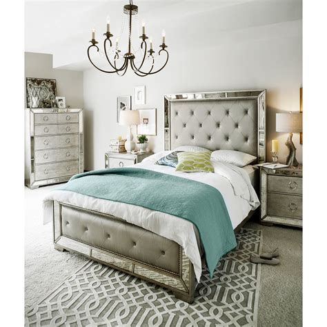angelina king bed metallic american signature furniture