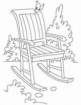 Chair Coloring Rocking Pages Garden Furniture Bestcoloringpages Chairs Printable Beach Getcoloringpages Sheets Outdoor sketch template