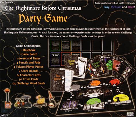 nightmare before christmas party game nightmare before image boardgamegeek