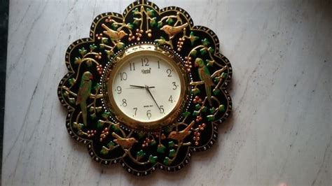 procedure  making wall clock simple craft ideas