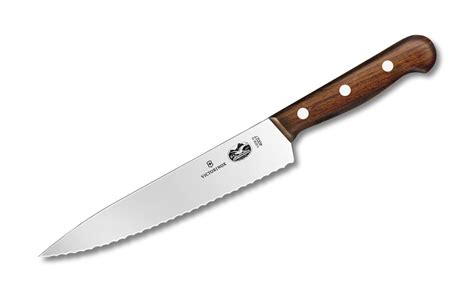 victorinox rosewood serrated chefs knife  cutlery