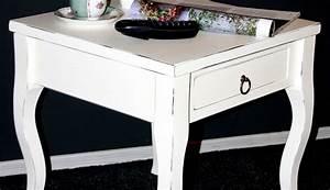 Beistelltisch Weiß Vintage : massivholz beistelltisch wei antik couchtisch mit schublade nachttisch nachtkommode ~ Yasmunasinghe.com Haus und Dekorationen