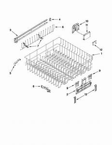 Upper Rack And Track Parts Diagram  U0026 Parts List For Model