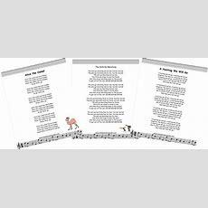 Children's Songs Printable Lyrics And Videos