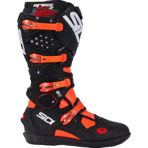 best motocross boot sidi 2017 new mx crossfire 2 srs black ktm flo orange