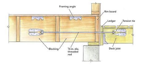 freestanding decks solve ledger attachment attaching a deck homebuilding