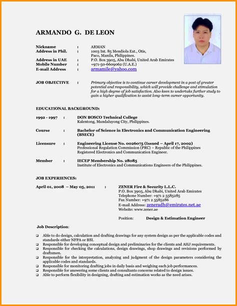 New Cv by New Cv Format Sles Resume Template Cover Letter